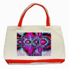Crystal Northern Lights Palace, Abstract Ice  Classic Tote Bag (red) by DianeClancy