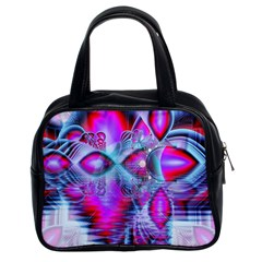 Crystal Northern Lights Palace, Abstract Ice  Classic Handbag (two Sides) by DianeClancy