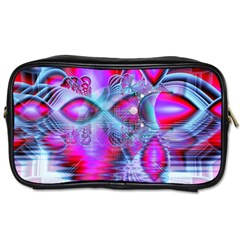 Crystal Northern Lights Palace, Abstract Ice  Travel Toiletry Bag (two Sides) by DianeClancy