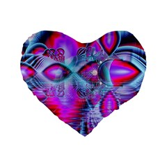 Crystal Northern Lights Palace, Abstract Ice  16  Premium Heart Shape Cushion  by DianeClancy