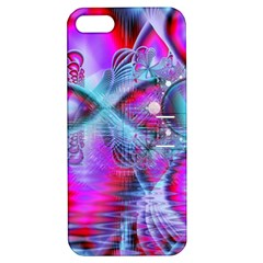 Crystal Northern Lights Palace, Abstract Ice  Apple Iphone 5 Hardshell Case With Stand by DianeClancy