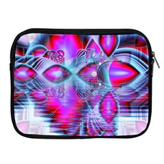 Crystal Northern Lights Palace, Abstract Ice  Apple Ipad Zippered Sleeve by DianeClancy
