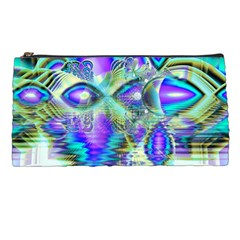 Abstract Peacock Celebration, Golden Violet Teal Pencil Case by DianeClancy