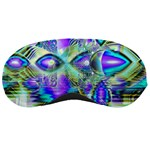 Abstract Peacock Celebration, Golden Violet Teal Sleeping Mask Front
