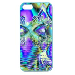 Abstract Peacock Celebration, Golden Violet Teal Apple Seamless Iphone 5 Case (color) by DianeClancy