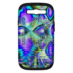 Abstract Peacock Celebration, Golden Violet Teal Samsung Galaxy S Iii Hardshell Case (pc+silicone) by DianeClancy