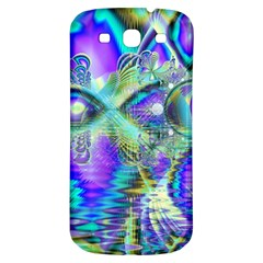 Abstract Peacock Celebration, Golden Violet Teal Samsung Galaxy S3 S Iii Classic Hardshell Back Case by DianeClancy