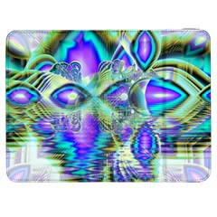 Abstract Peacock Celebration, Golden Violet Teal Samsung Galaxy Tab 7  P1000 Flip Case
