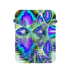 Abstract Peacock Celebration, Golden Violet Teal Apple Ipad Protective Sleeve by DianeClancy
