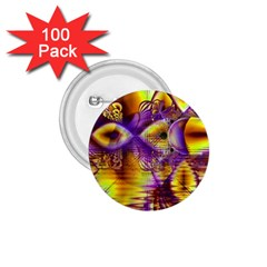 Golden Violet Crystal Palace, Abstract Cosmic Explosion 1 75  Button (100 Pack) by DianeClancy