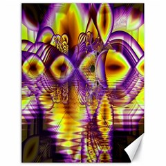 Golden Violet Crystal Palace, Abstract Cosmic Explosion Canvas 18  X 24  (unframed) by DianeClancy