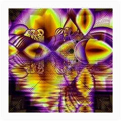 Golden Violet Crystal Palace, Abstract Cosmic Explosion Glasses Cloth (medium) by DianeClancy