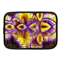 Golden Violet Crystal Palace, Abstract Cosmic Explosion Netbook Sleeve (medium)