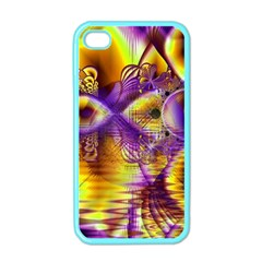 Golden Violet Crystal Palace, Abstract Cosmic Explosion Apple Iphone 4 Case (color) by DianeClancy