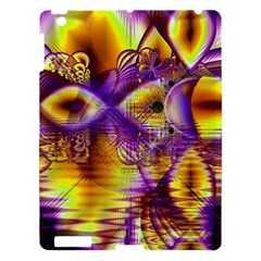 Golden Violet Crystal Palace, Abstract Cosmic Explosion Apple Ipad 3/4 Hardshell Case