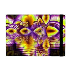 Golden Violet Crystal Palace, Abstract Cosmic Explosion Apple Ipad Mini Flip Case by DianeClancy