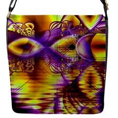 Golden Violet Crystal Palace, Abstract Cosmic Explosion Removable Flap Cover (small) by DianeClancy