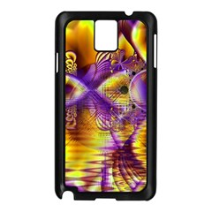 Golden Violet Crystal Palace, Abstract Cosmic Explosion Samsung Galaxy Note 3 N9005 Case (black) by DianeClancy