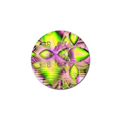 Raspberry Lime Mystical Magical Lake, Abstract  Golf Ball Marker 4 Pack by DianeClancy