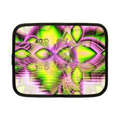 Raspberry Lime Mystical Magical Lake, Abstract  Netbook Sleeve (small) by DianeClancy