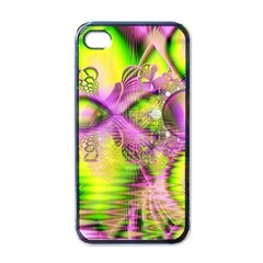 Raspberry Lime Mystical Magical Lake, Abstract  Apple Iphone 4 Case (black) by DianeClancy