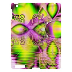 Raspberry Lime Mystical Magical Lake, Abstract  Apple Ipad 3/4 Hardshell Case by DianeClancy