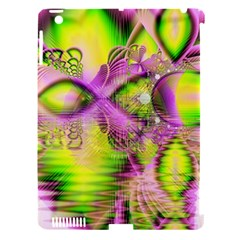 Raspberry Lime Mystical Magical Lake, Abstract  Apple Ipad 3/4 Hardshell Case (compatible With Smart Cover) by DianeClancy