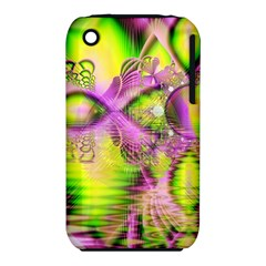 Raspberry Lime Mystical Magical Lake, Abstract  Apple Iphone 3g/3gs Hardshell Case (pc+silicone) by DianeClancy