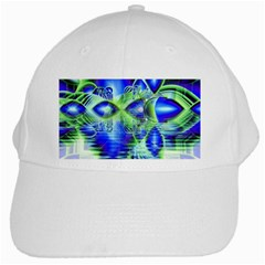 Irish Dream Under Abstract Cobalt Blue Skies White Baseball Cap by DianeClancy