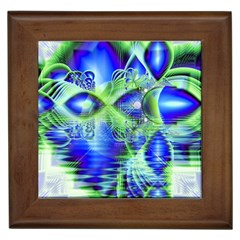 Irish Dream Under Abstract Cobalt Blue Skies Framed Ceramic Tile by DianeClancy