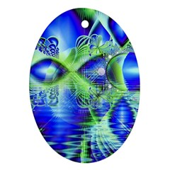 Irish Dream Under Abstract Cobalt Blue Skies Oval Ornament by DianeClancy