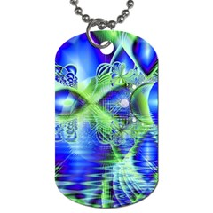 Irish Dream Under Abstract Cobalt Blue Skies Dog Tag (two Sided)  by DianeClancy