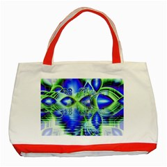 Irish Dream Under Abstract Cobalt Blue Skies Classic Tote Bag (red) by DianeClancy