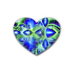 Irish Dream Under Abstract Cobalt Blue Skies Drink Coasters (heart) by DianeClancy