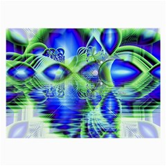 Irish Dream Under Abstract Cobalt Blue Skies Glasses Cloth (large) by DianeClancy