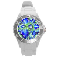 Irish Dream Under Abstract Cobalt Blue Skies Plastic Sport Watch (large) by DianeClancy