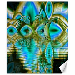 Crystal Gold Peacock, Abstract Mystical Lake Canvas 8  X 10  (unframed) by DianeClancy
