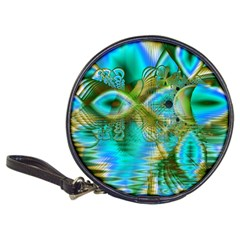 Crystal Gold Peacock, Abstract Mystical Lake Cd Wallet by DianeClancy