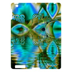 Crystal Gold Peacock, Abstract Mystical Lake Apple Ipad 3/4 Hardshell Case by DianeClancy