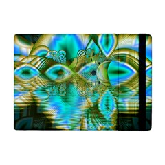 Crystal Gold Peacock, Abstract Mystical Lake Apple Ipad Mini Flip Case by DianeClancy