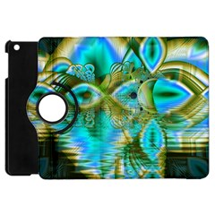 Crystal Gold Peacock, Abstract Mystical Lake Apple Ipad Mini Flip 360 Case by DianeClancy