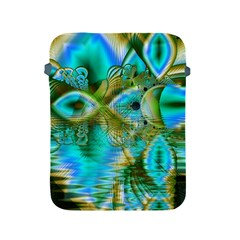 Crystal Gold Peacock, Abstract Mystical Lake Apple Ipad Protective Sleeve by DianeClancy