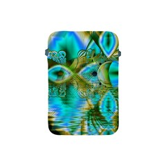 Crystal Gold Peacock, Abstract Mystical Lake Apple Ipad Mini Protective Sleeve by DianeClancy