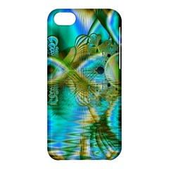 Crystal Gold Peacock, Abstract Mystical Lake Apple Iphone 5c Hardshell Case by DianeClancy
