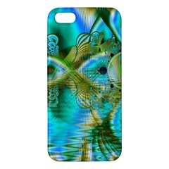 Crystal Gold Peacock, Abstract Mystical Lake Iphone 5s Premium Hardshell Case by DianeClancy