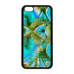 Crystal Gold Peacock, Abstract Mystical Lake Apple Iphone 5c Seamless Case (black) by DianeClancy