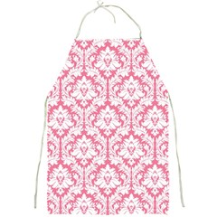 Soft Pink Damask Pattern Full Print Apron by Zandiepants