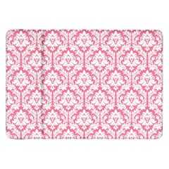 White On Soft Pink Damask Samsung Galaxy Tab 8 9  P7300 Flip Case by Zandiepants