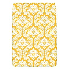 White On Sunny Yellow Damask Removable Flap Cover (small) by Zandiepants