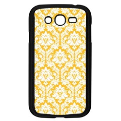White On Sunny Yellow Damask Samsung Galaxy Grand Duos I9082 Case (black) by Zandiepants